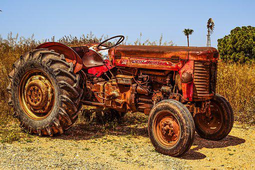 Tractor, Farm, Countryside, Agriculture, Rural