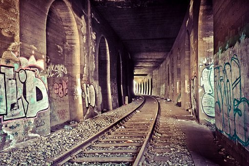 Lost Places, Tunnel, Gleise, Railway, Railroad Track