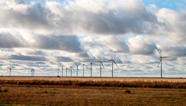 Texas, Wind Mills, Wind, Mill, Windmill, Farm, Power