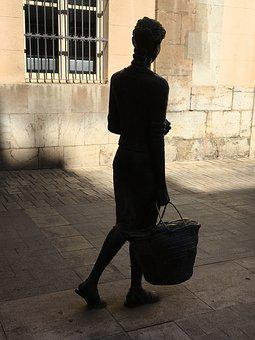 Sculpture, Statue, Women, Bronze, Castellón, Valencia