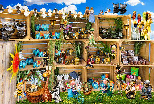 Figures, Garden, Garden Figurines, Decoration