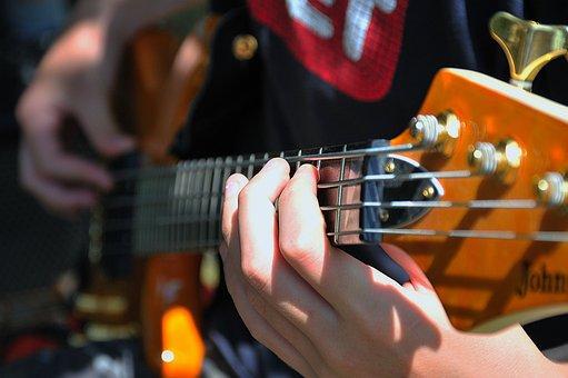 Guitar, Bass Guitar, Music, Musical Instrument, String