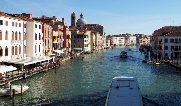 Venice, Canale Grande, Italy, City, Waterway, Water