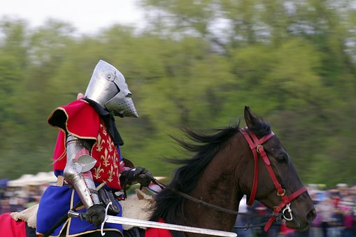 Knight, Mounted, The Horse, Visor, Knighthood, Armor