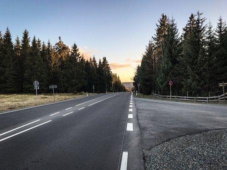 Road, Away, Mountain, Landscape, Asphalt, Nature, Just