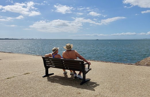 Couple, Bench, Together, Sitting, Relationship