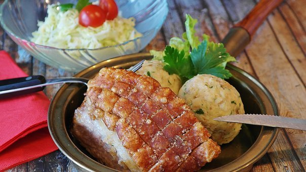 Roast Pork, Crust Roast, Dumpling, Coleslaw, Pig