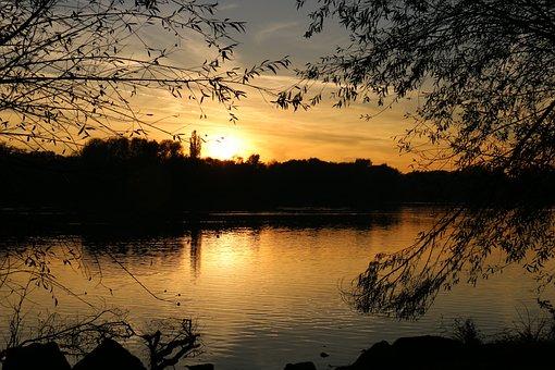 Sunset, Lake, Abendstimmung, Romance, Nature, Mood