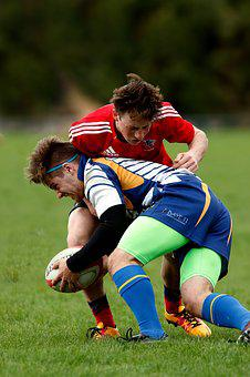 Rugby, Youth, Male, Players, Game, Grass, Sport, Ball