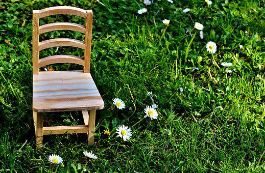 Chair, Meadow, Wood, Seat, Green, Nature, Rest, Out