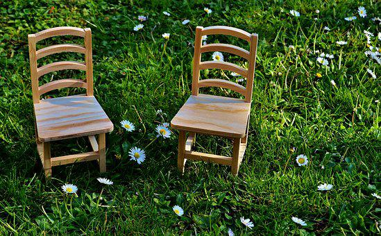 Chairs, Meadow, Wood, Seat, Green, Nature, Rest, Out
