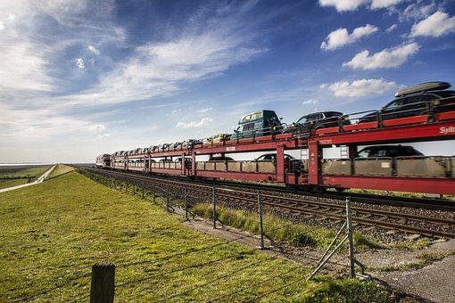 Sylt, Hindenburg Damm, Sylt-shuttle, Autotransport
