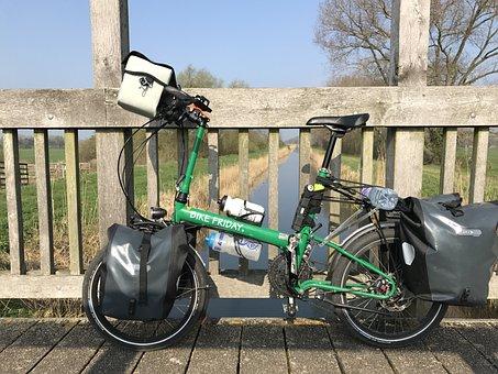 Folding Bike, The East Of England, Bike Ride