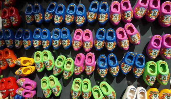 Wooden Shoes, Holland, Souvenir, Tradition