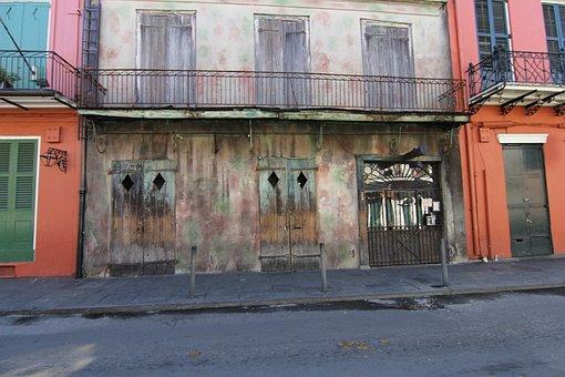 New Orleans, Nola, Derelict, Building
