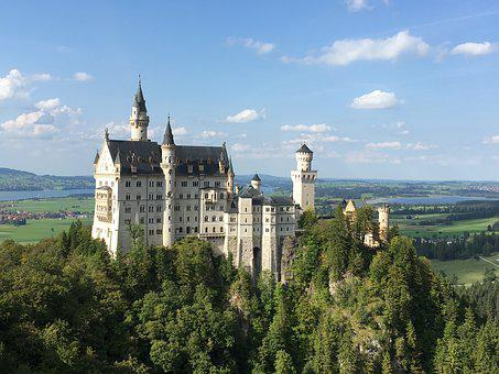 Neuschwanstein, Castle, Germany, Alps, Bavaria