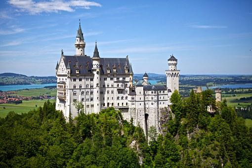 Neuschwanstein, Castle, Germany, Disney, Landmark