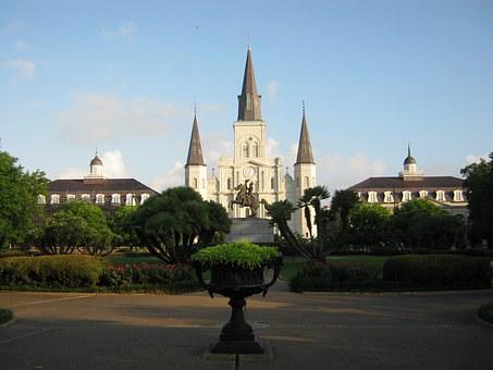 New Orleans, Church, Cathedral, Louisiana, Architecture