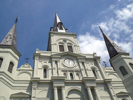 Church, New Orleans, Cathedral, French, Louisiana