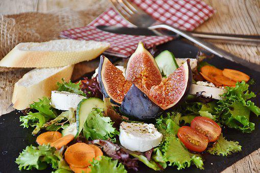 Salad, Figs, Cheese, Goat Cheese, Mixed Salad, Starter