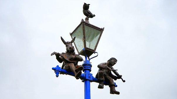Street, Lamp, Light, City, Illumination, Road