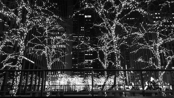 Nyc, Christmas, Winter, City, New, York, Cityscape