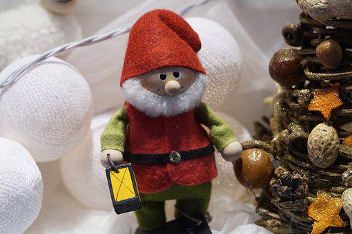 Toy, Gnome, Lantern, Decor, Felt, Ornament