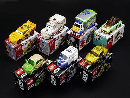 Toy Car, Toy, Box, Mini, Diecast, Auto Mobile, Disney