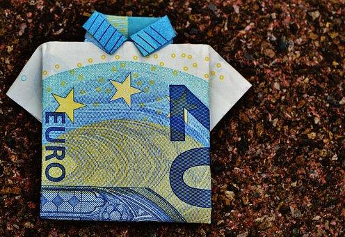 The Last Shirt, Dollar Bill, 20 Euro, Folded, Gift