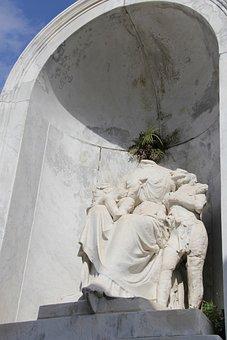 New Orleans, Nola, Statue, Tomb, Graveyard, Monument
