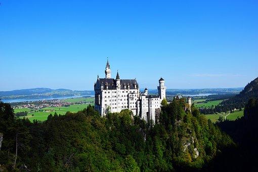 Neuschwanstein, Castle, Germany, Bayern