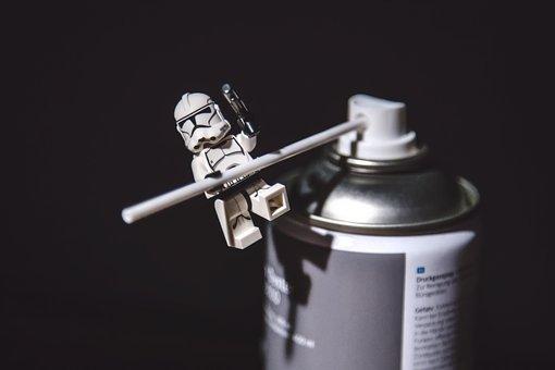 Star Wars, Storm Trooper, Lego, Toy, Play, Spray