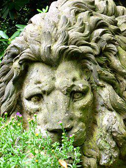Stone Figure, Stone Lion, Sculpture, Lion, Fig, Stone