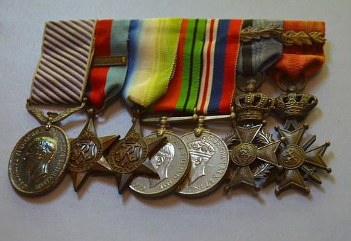 Medals, War Medals, War, Military, Victory, Hero