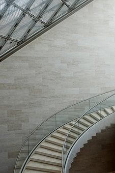 Mudam, Luxembourg, Staircase, Canopy, Architecture