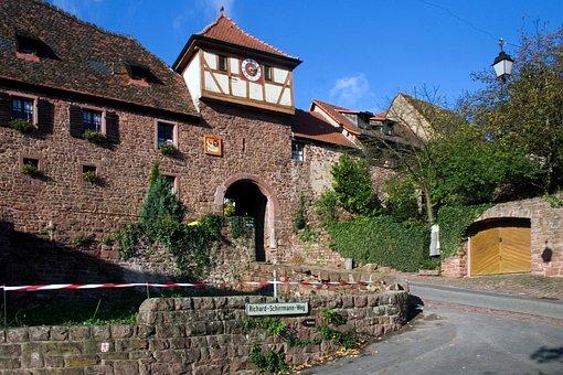 Dilsberg, Odenwald, City Wall, City Gate