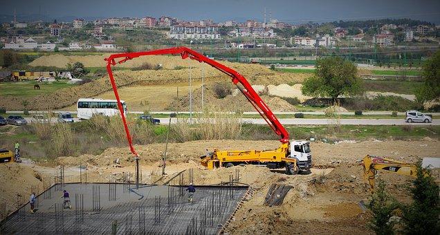 Crane, Concrete, Bottom Plate, Bulk Materials