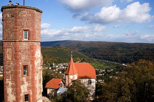 Dilsberg, Odenwald, Castle, Germany, Tourist Attraction
