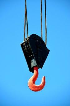 Crane, Hook, Cargo Transport, Hoist Rope, Load Lifter