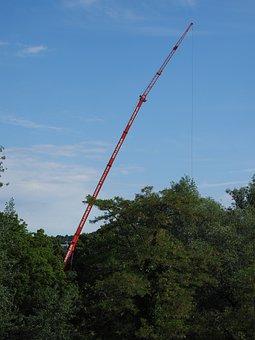 Crane, Baukran, Load Crane, Boom, Large, High, Long