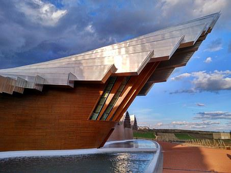 Buildings, Architecture, Wood, Sky, Winery, Modernity