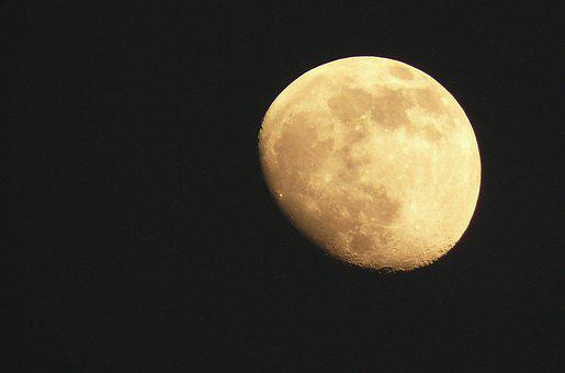 September Moon, Moon, Satellite, Moonlight, Night, Luna