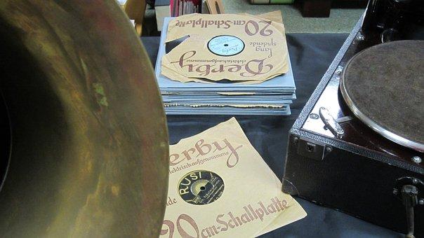 Music, 1920s, Gramophone, Instrument, Record