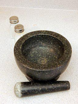 Kitchen, Mortar, Pestle, Cooking, Mortar And Pestle