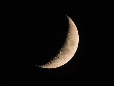 Luna, Satellite, Heavenly Body, Sky, Black, Night