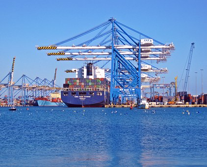 Dock, Ship, Container, Port, Boat, Vessel, Sea