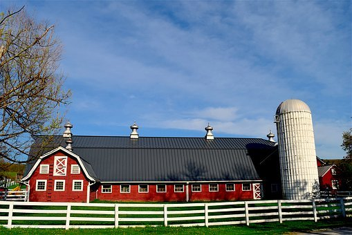 Barn, Rural, Farm, Agriculture, Fence, Country