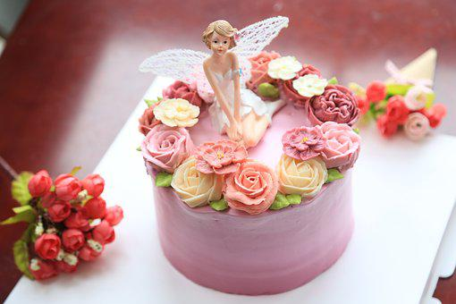 Decorating The Cake, Cake, Sweet, Cream, Angel, Flower