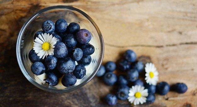 Blueberries, Dessert, Daisy, Fruit, Fruits, Blue