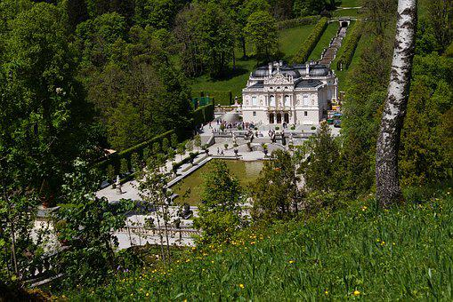 Linderhof Palace, Castle, King Ludwig, Schlossgarten